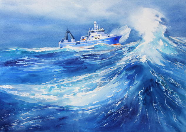 The Voyage South – Storm in the Southern Ocean