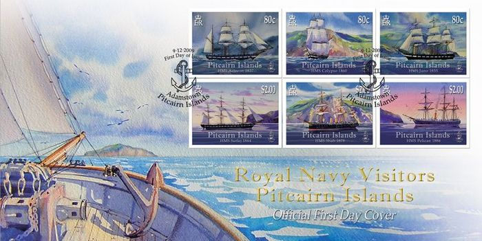 Pitcairn Islands Stamps, Royal Navy Visitors  2009