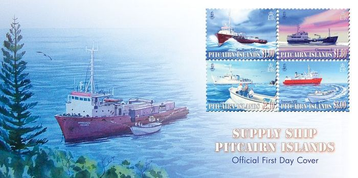 Pitcairn Islands Stamps, Supply Ships, 2011